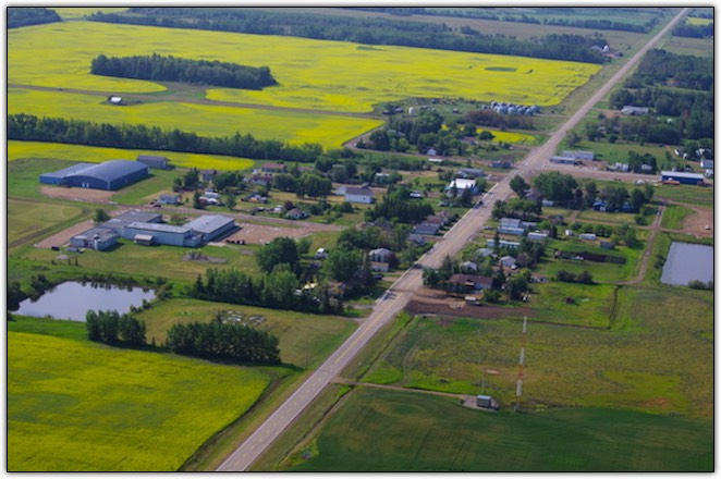 Eaglesham Alberta From the air
